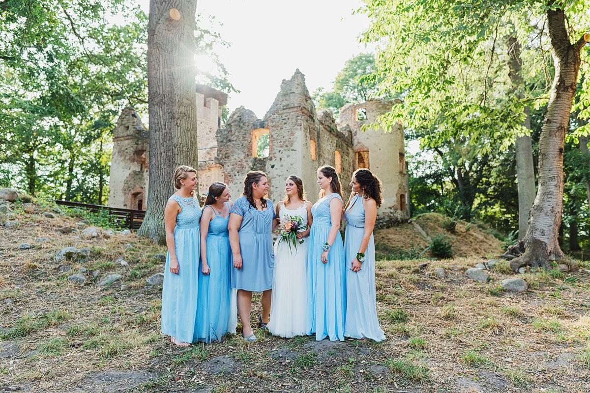 Freie Trauung auf der Burgruine/Veste Landskron in Mecklenburg Vorpommern - Hochzeit im Raum Neubrandenburg und Anklam - Hochzeitsfotograf in Mecklenburg Vorpommern an der Ostsee