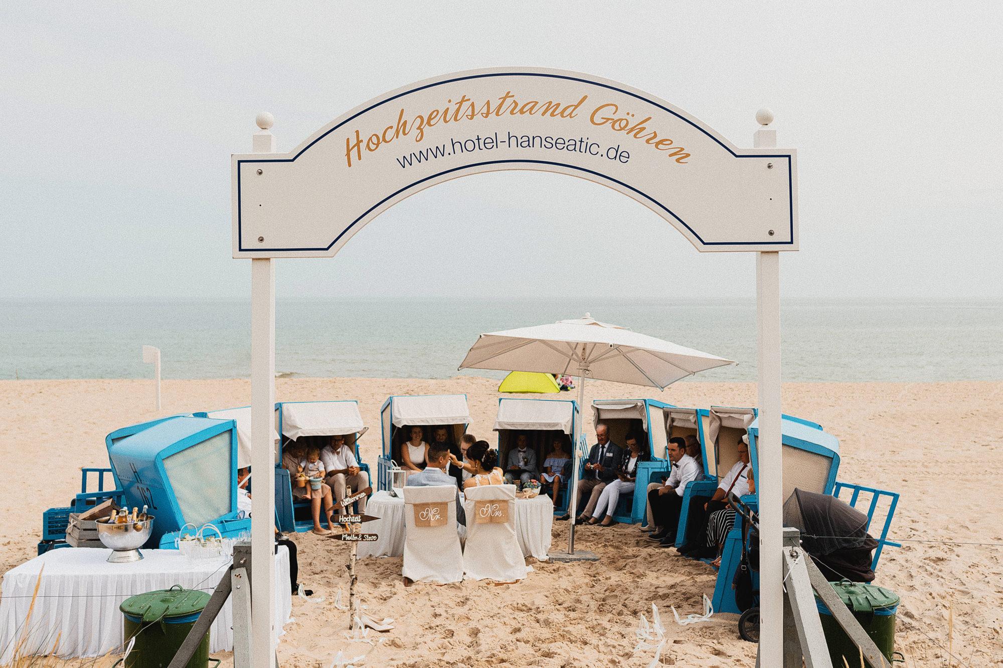 Trauung - Rügen - Hochzeitsfotos - Ostsee - Fotograf - Göhren - Strandhochzeit - freie Trauung - Binz