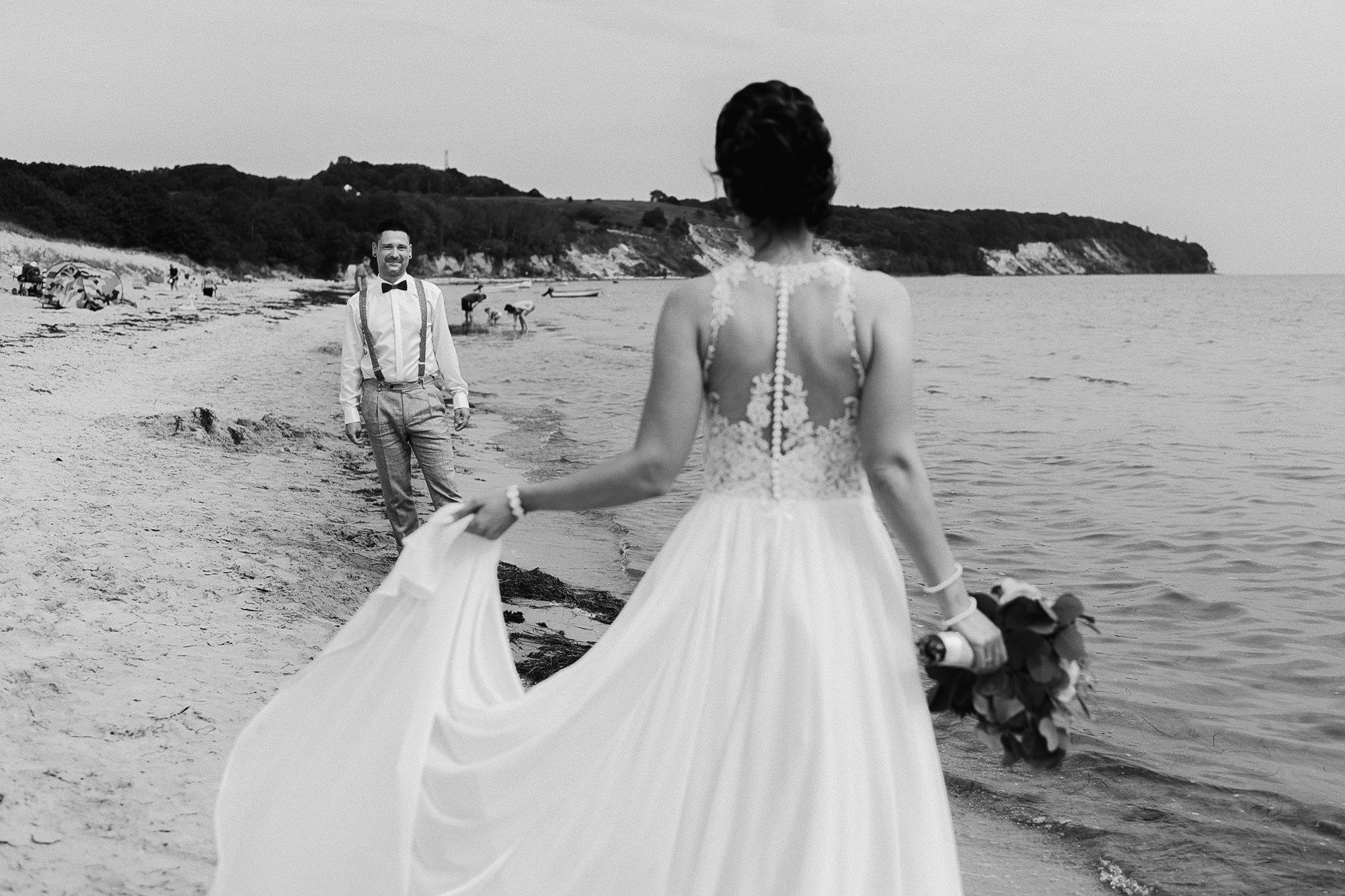 Brautpaarshooting - Göhren - Hochzeit - Rügen - Hochzeitsfotograf Binz - Baltic Hotel - Müther Turm - Trauung