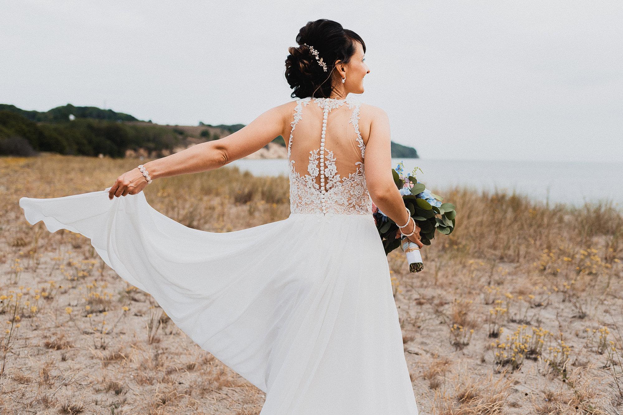 Strandhochzeit Göhren - Hochzeitsfotograf Rügen - Fotograf Ostsee - Hochzeitsfotografie Binz - heiraten im Müther Turm Binz