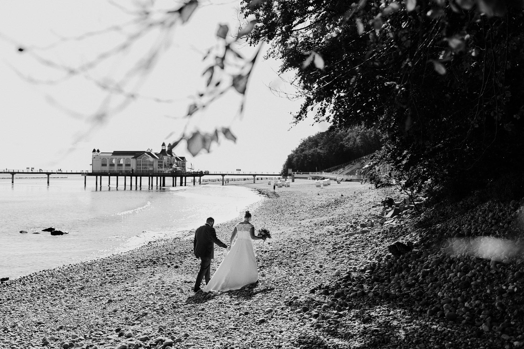 Hochzeit - Fischland Darß - Heiraten - Zingst - Seebruecke - Elopement