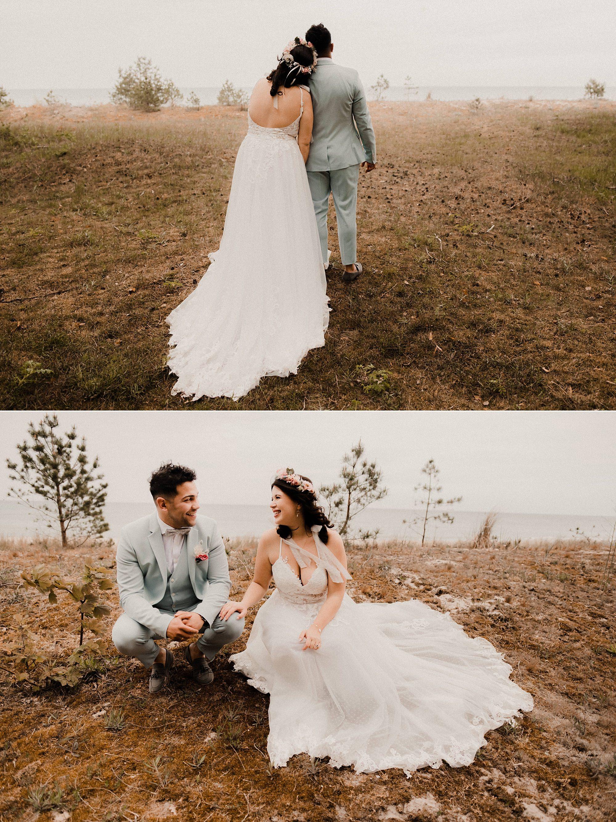 Brautpaarfotos - Ostsee - Strand - Binz - Sellin - Fotograf - Rügen - Heiraten - Hochzeit