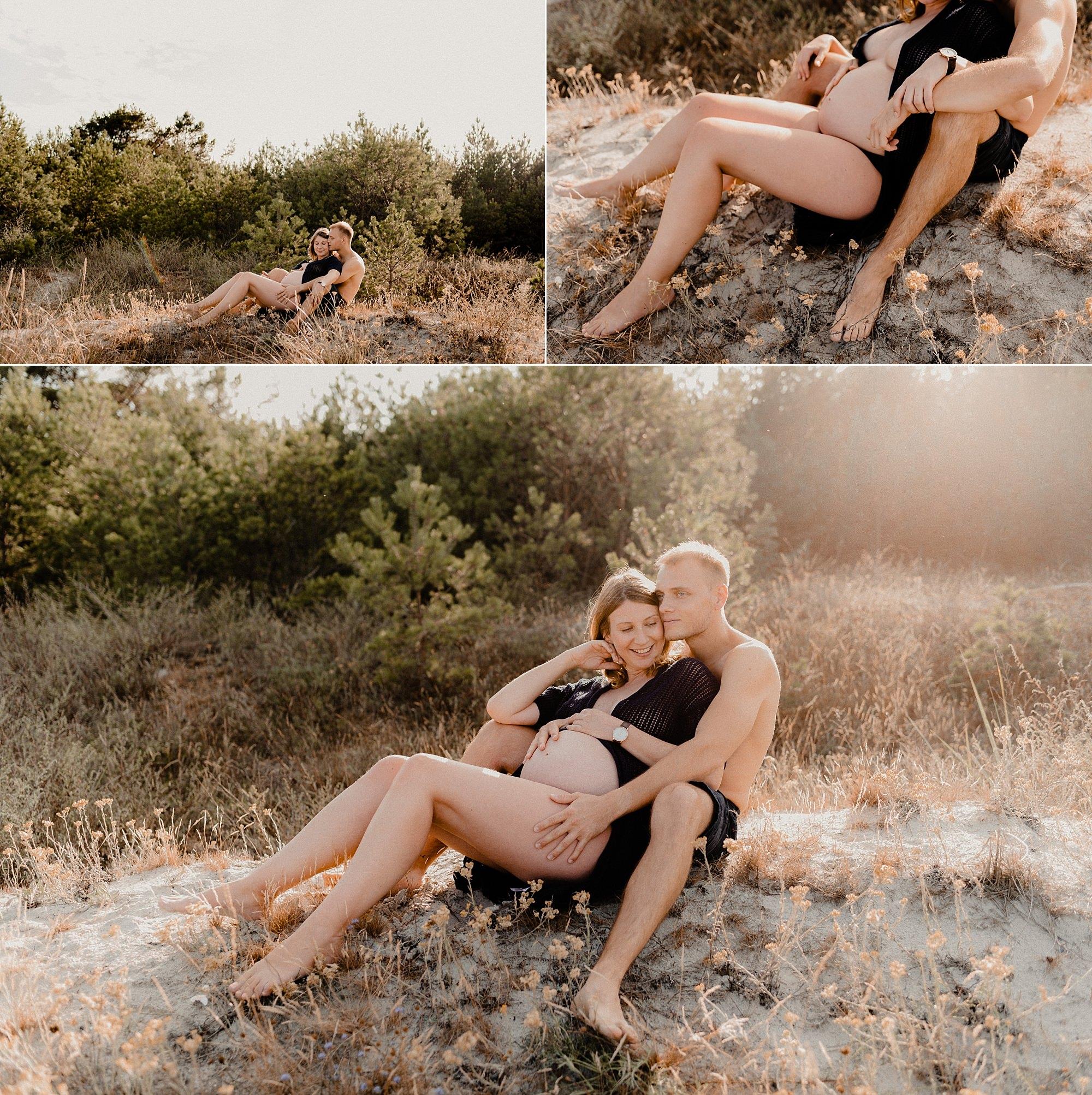 Schwanger - Fotoshooting - Rügen - Babybauch - Fotografie - Binz - Glowe - Ostseeurlaub - Babybauchfotos mit Haut - Strandshooting